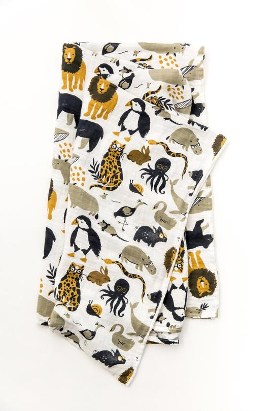Zoology Swaddle | ROOLEE Kids