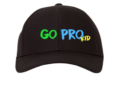 Kids Go Pro Black Hat for Boys