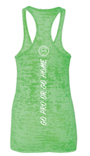 We Have A Better Way Neon Green Tank Burnout Tee
