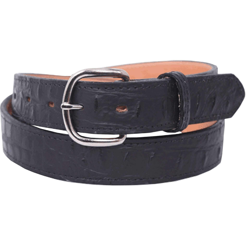 B642 - Black Gator Print Belt