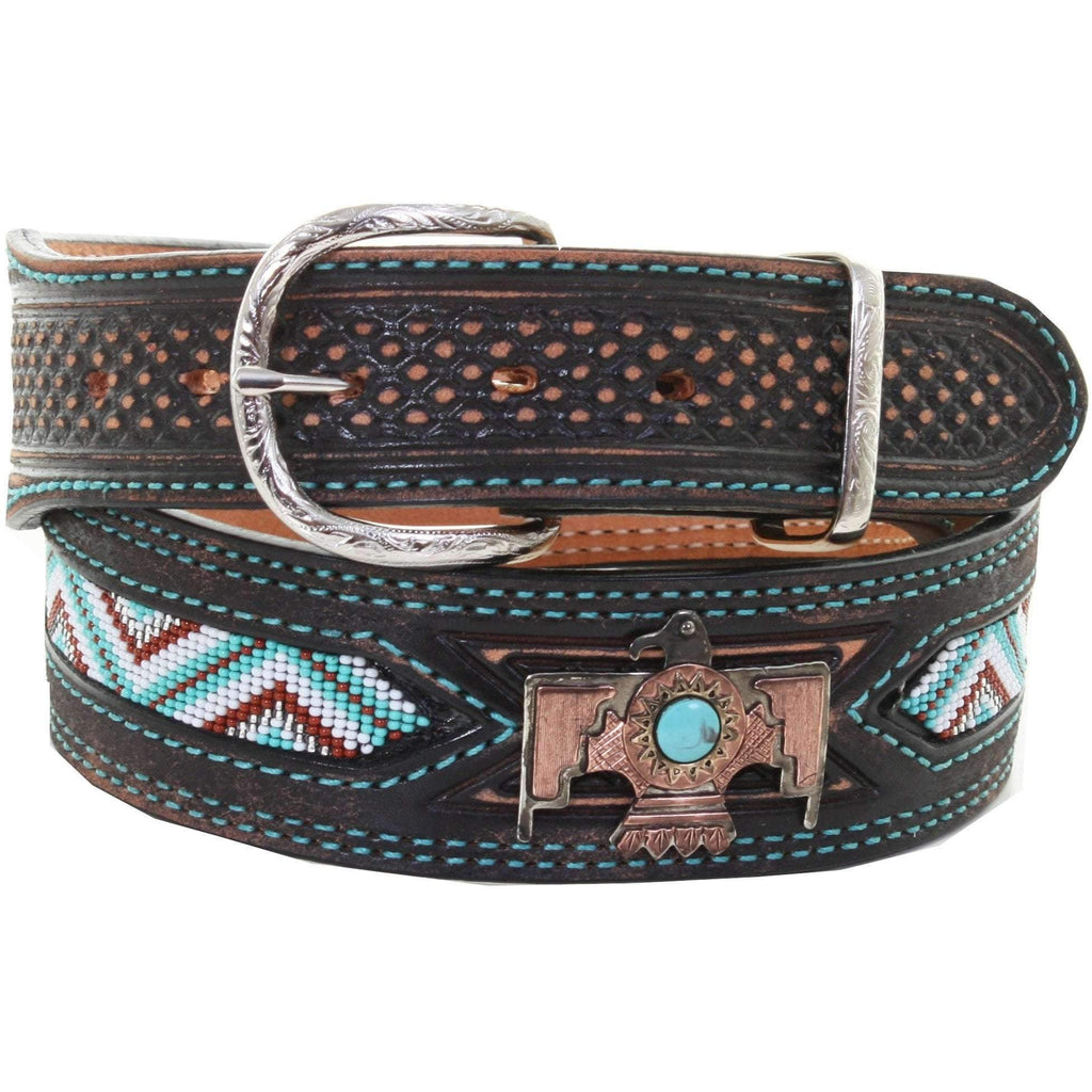 B953A - Black Vintage Beaded Belt