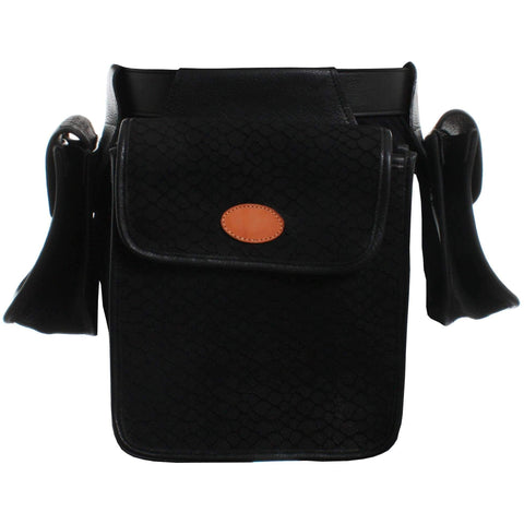 BB21 - Black Puzzle Leather Bird Bag