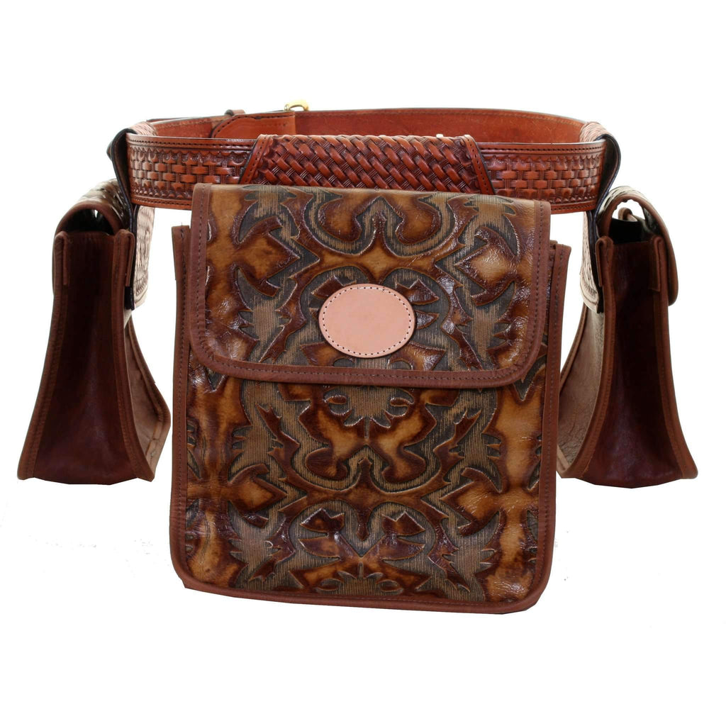 Bb32 - Laredo Burnt Brown Leather Bird Bag Hunting