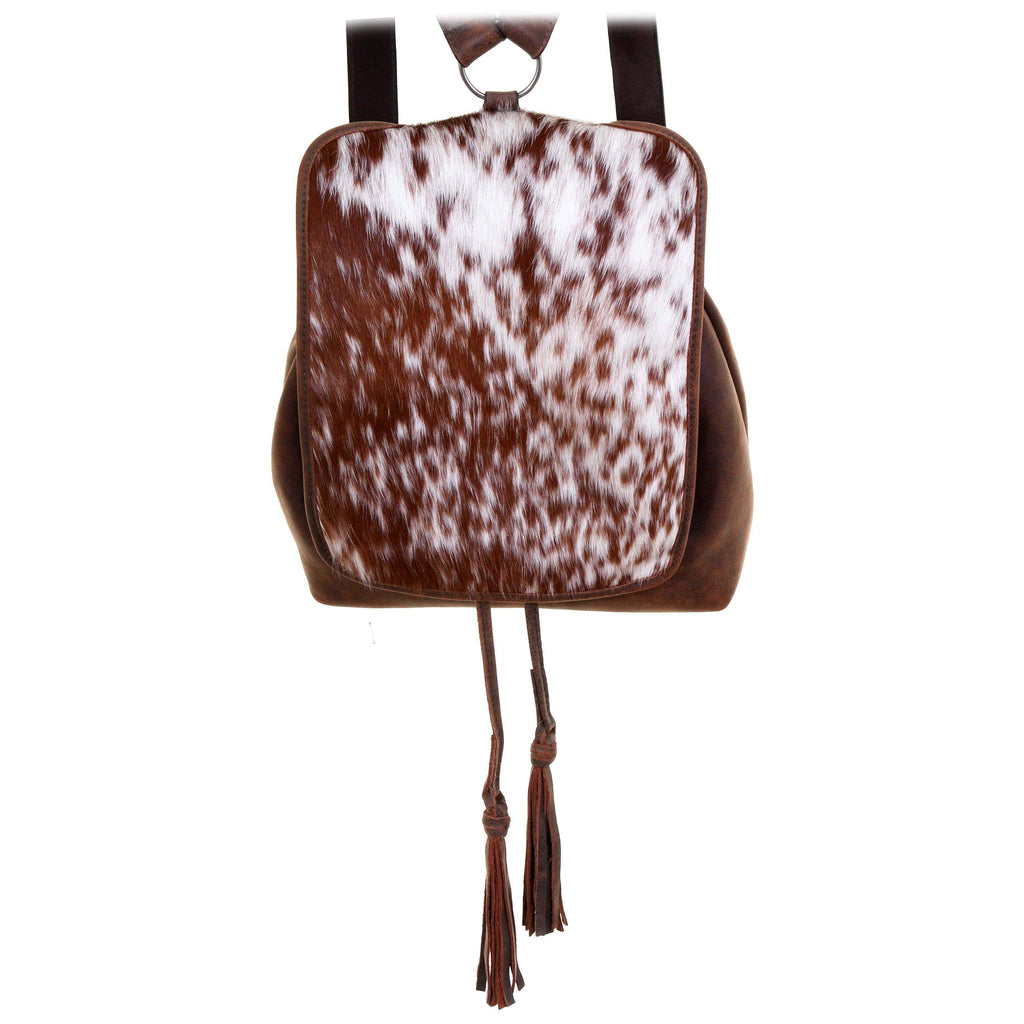 BBP03 - Roan Cowhide and Brown Bomber Big Backpack