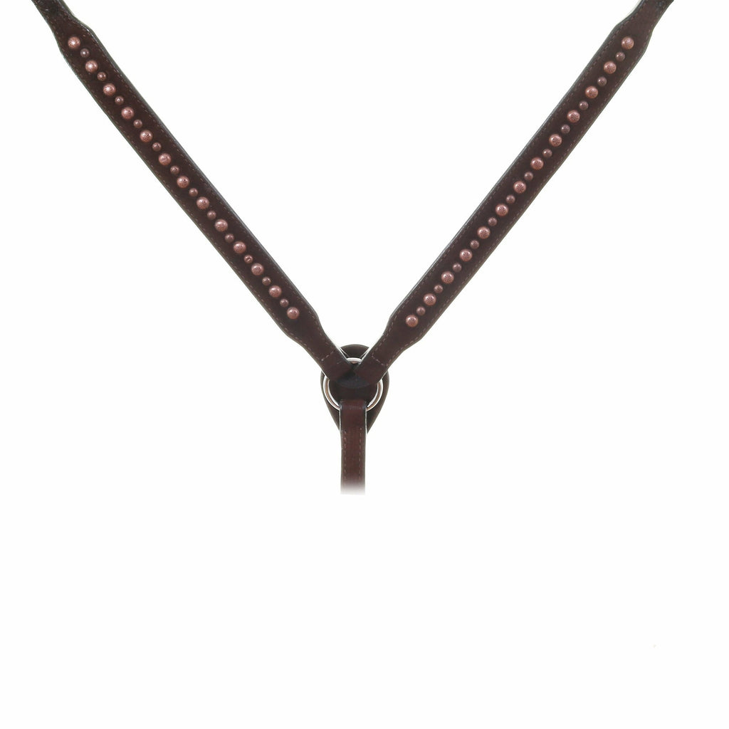 BC033B - Brown Rough Out Studded Breast Collar