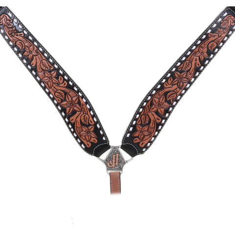 BC1016 - Natural Pozzi Tooled Breast Collar