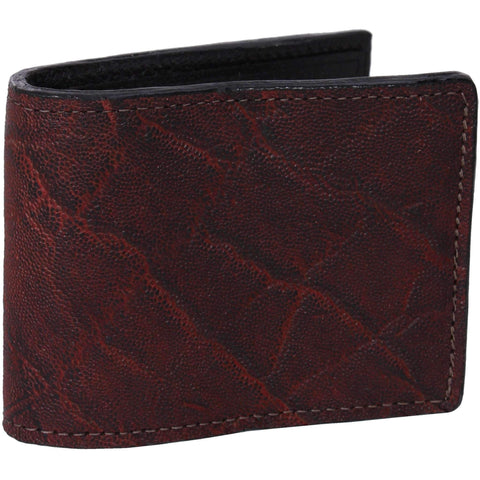 Bf25 - Black Cherry Elephant Print Mens Bifold Wallet Wallet