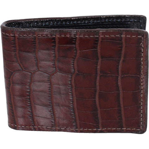 Bf28 - Brown Mini Africana Print Mens Bifold Wallet Wallet