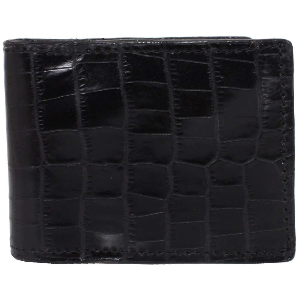 BF29 - Black Mini Africana Print Mens Bifold Wallet