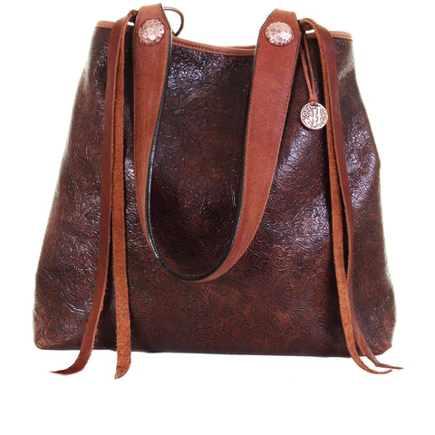 BT150 - Cowboy Floral Brown Big Tote