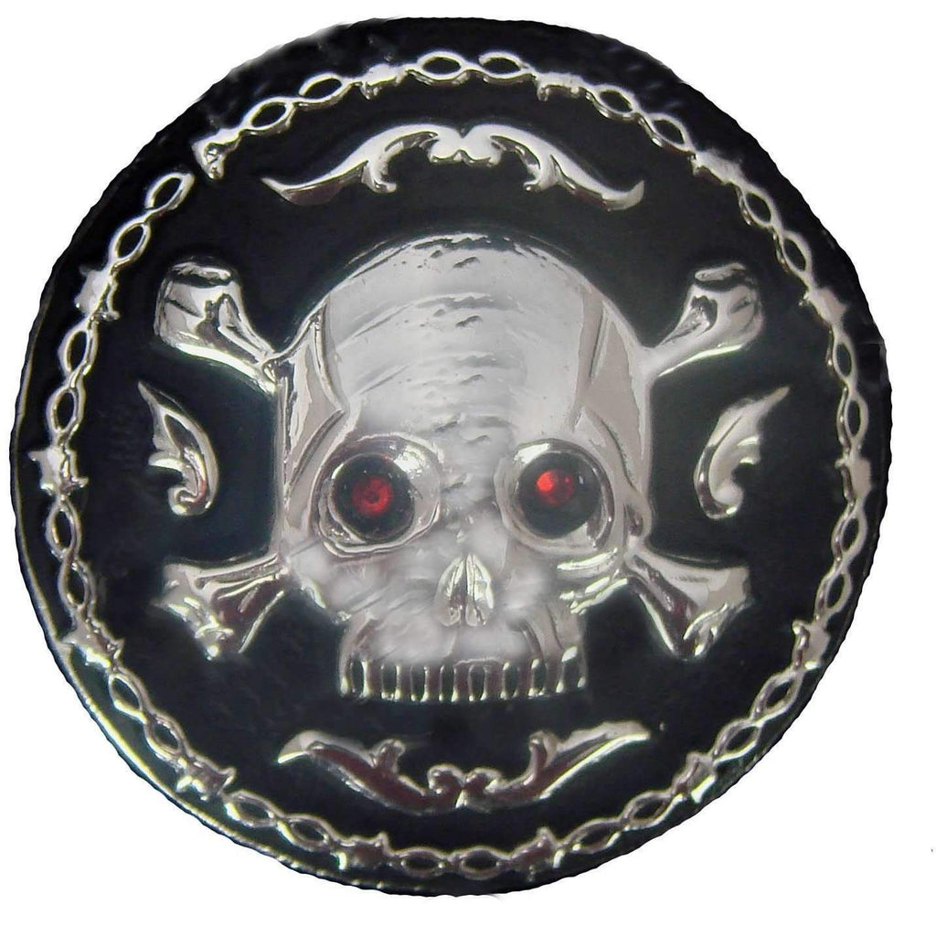 C932 - Skull Concho With Black Background Concho