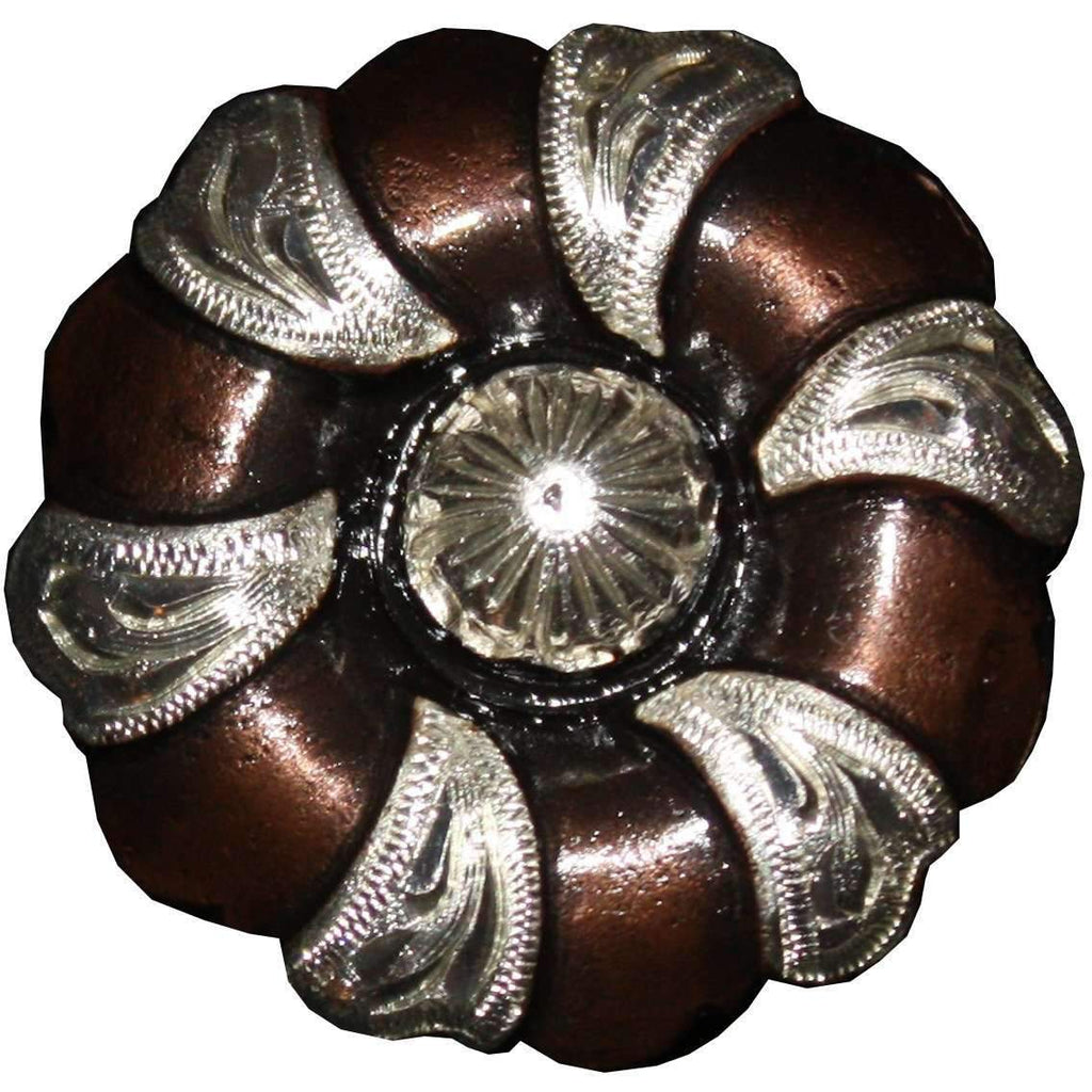 C954 - Copper And Silver Flower Concho Concho