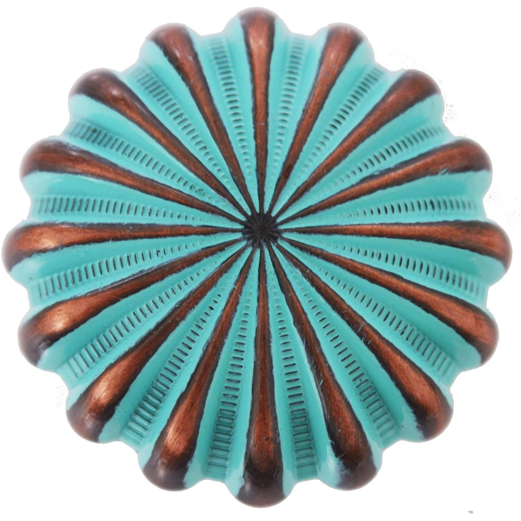 C990-ACP - Turquoise Patina Parachute Concho
