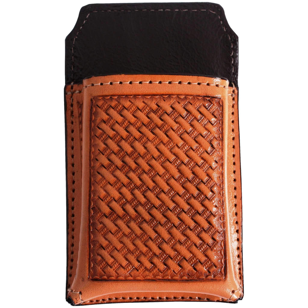 Cpc30A - Natural Leather Tooled Cell Phone Holder Accessories
