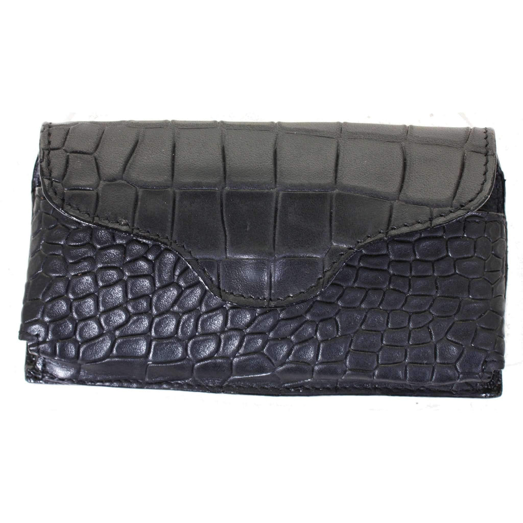 Cpc67 - Black Diamond Back Crocodile Cell Phone Holder Accessories
