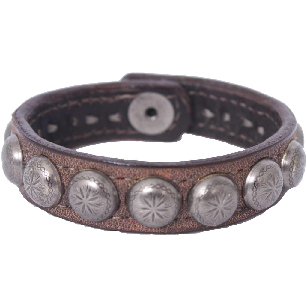 Cuf3/402 - 3/4 Brown Bomber Cuff Jewelry