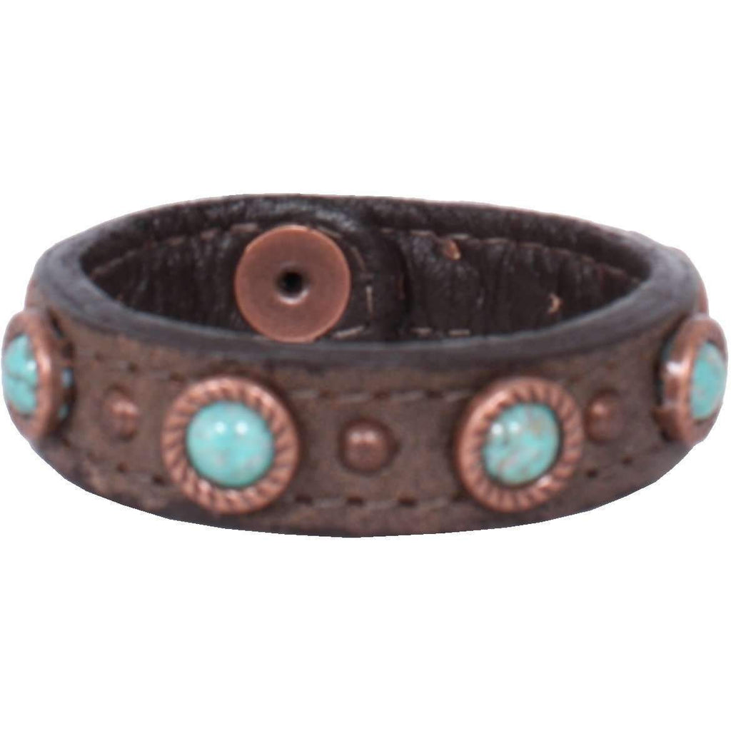Cuf3/419 - 3/4 Brown Bomber Cuff Jewelry