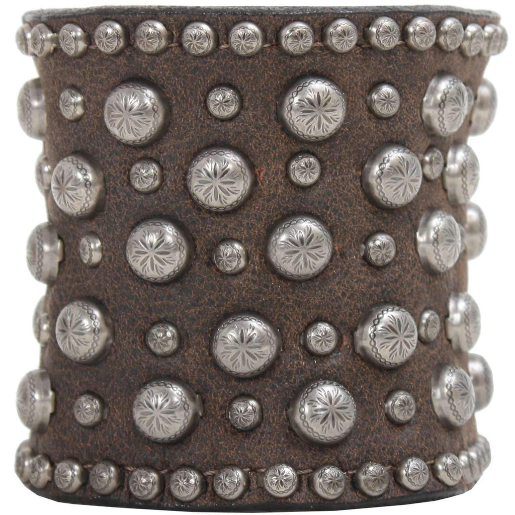 Cuf323 - 3 Brown Bomber Cuff Jewelry