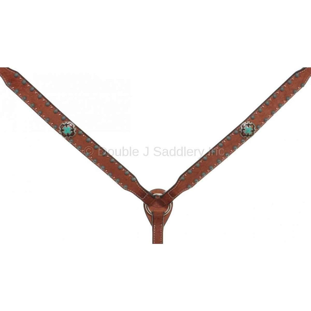 Chestnut Rough Out Breast Collar