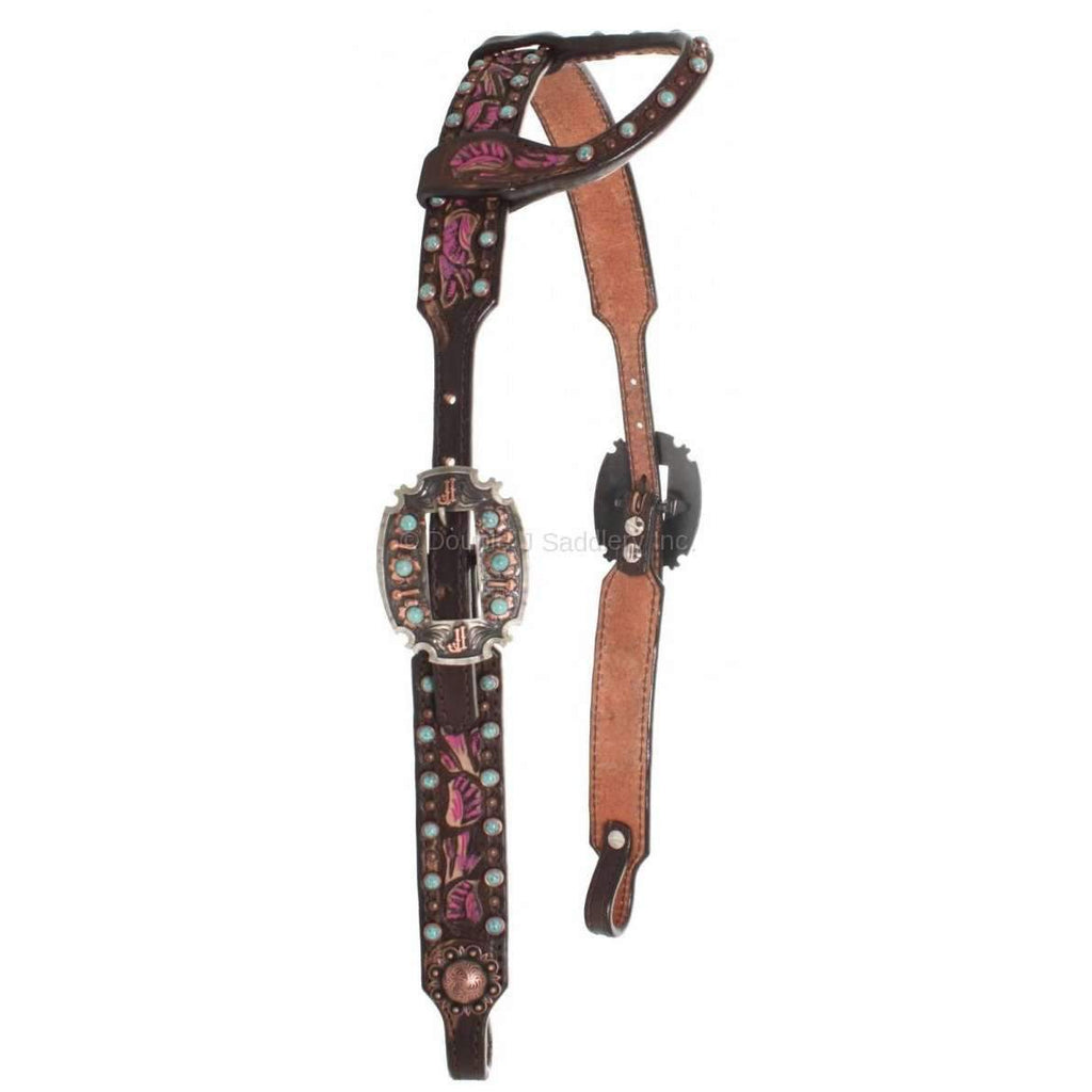 Brown Vintage Single Ear Headstall