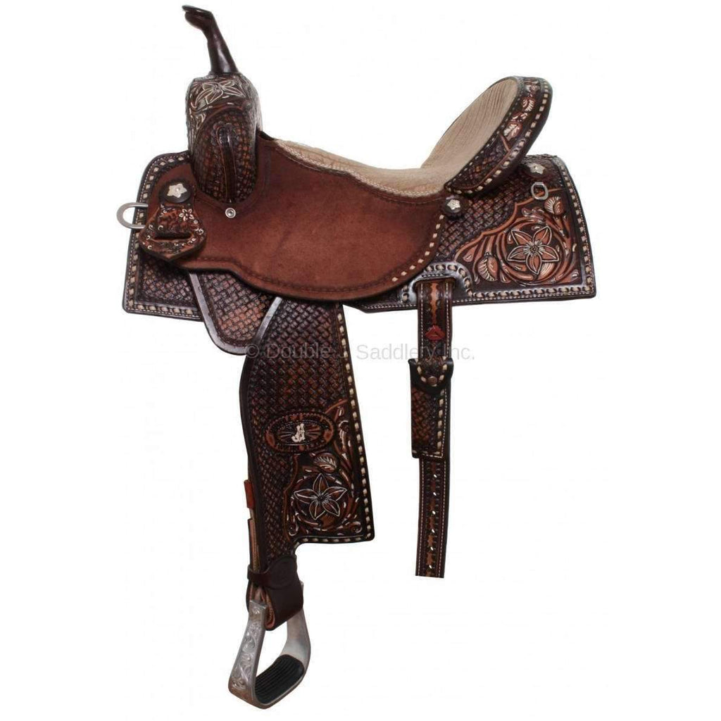 Brown Vintage Brittany Pozzi Pro Barrel Racer Saddle MATCHING TACK H1124A AND BC730