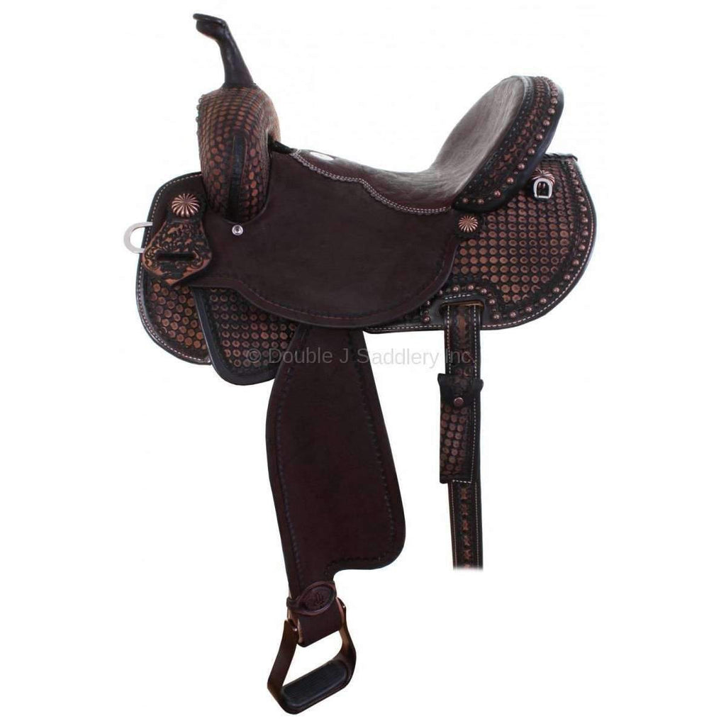 Brown Vintage Brittany Pozzi Pro Barrel Racer Saddle