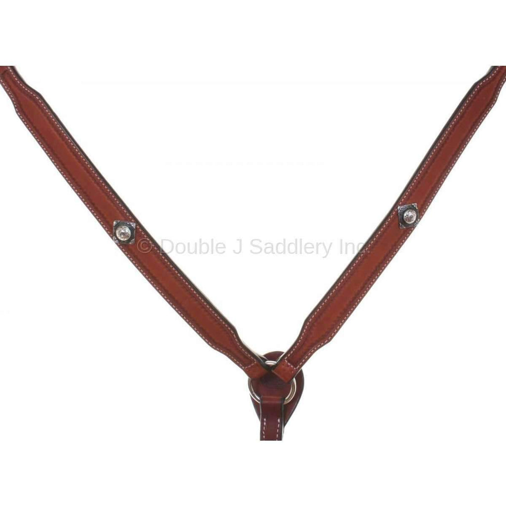 Cognac Leather Tooled Breast Collar