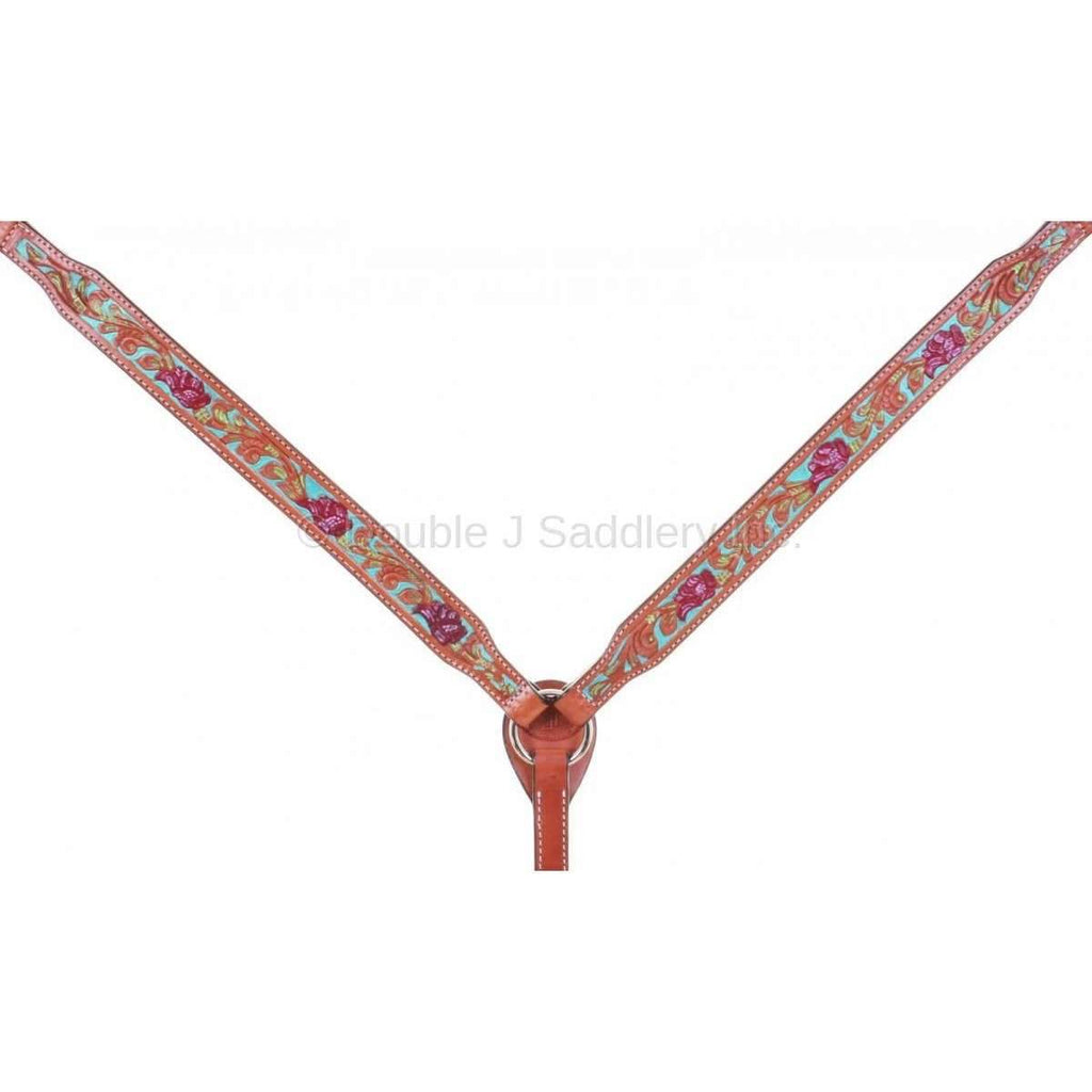 Chestnut Tooled And Painted Breast Collar