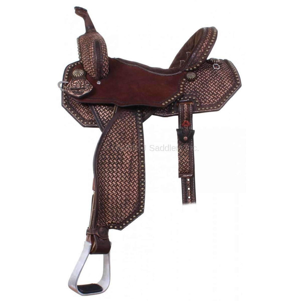 Tooled Brown Vintage Pozzi Pro Barrel Racer MATCHING TACK H855 AND BC838