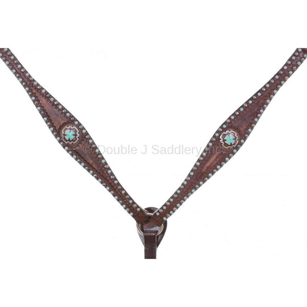 Brown Vintage Studded Breast Collar