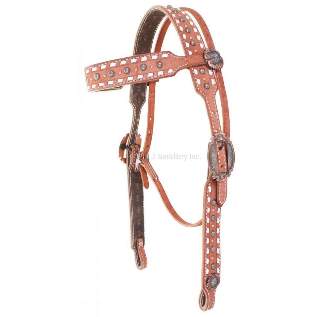 Chestnut Rough Out And Buck Stitched Headstall
