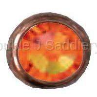 Fire Opal Swarovski Crystal In Small Antique Copper Setting