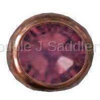 Burgundy Swarovski Crystal In Small Antique Copper Setting