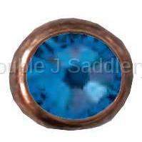 Capri Blue Swarovski Crystal In Small Antique Copper Setting