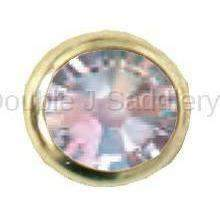 Clear Swarovski Crystal In Small Brass Setting