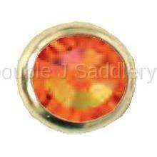 Fire Opal Swarovski Crystal In Small Brass Setting