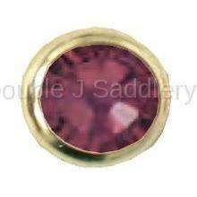 Burgundy Swarovski Crystal In Small Brass Setting