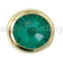 Emerald Swarovski Crystal In Small Brass Setting