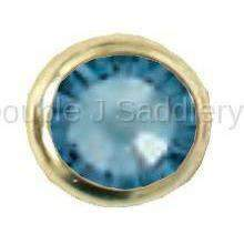 Denim Blue Swarovski Crystal In Small Brass Setting