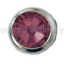 Burgundy Swarovski Crystal In Small Silver Setting