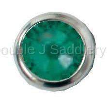 Emerald Swarovski Crystal In Small Silver Setting