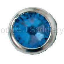 Capri Blue Swarovski Crystal In Small Silver Setting