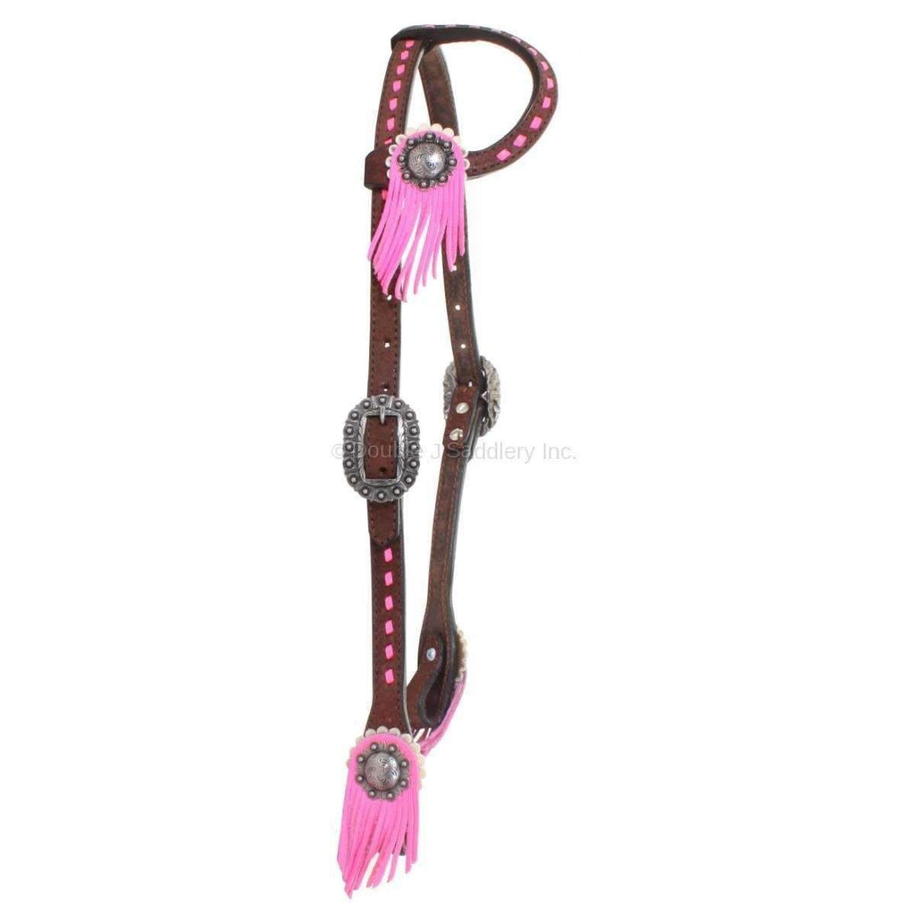 H825Af - Brown Rough Out Single Ear Headstall Tack