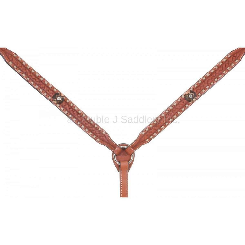 Chestnut Tooled and Buckstitched Breast Collar