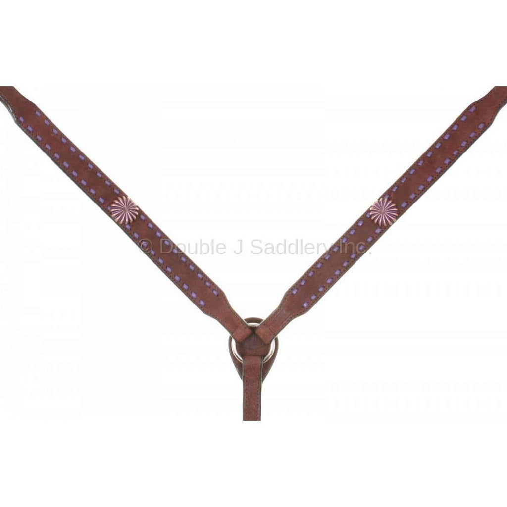 Bc817 - Brown Rough Out Breast Collar Tack