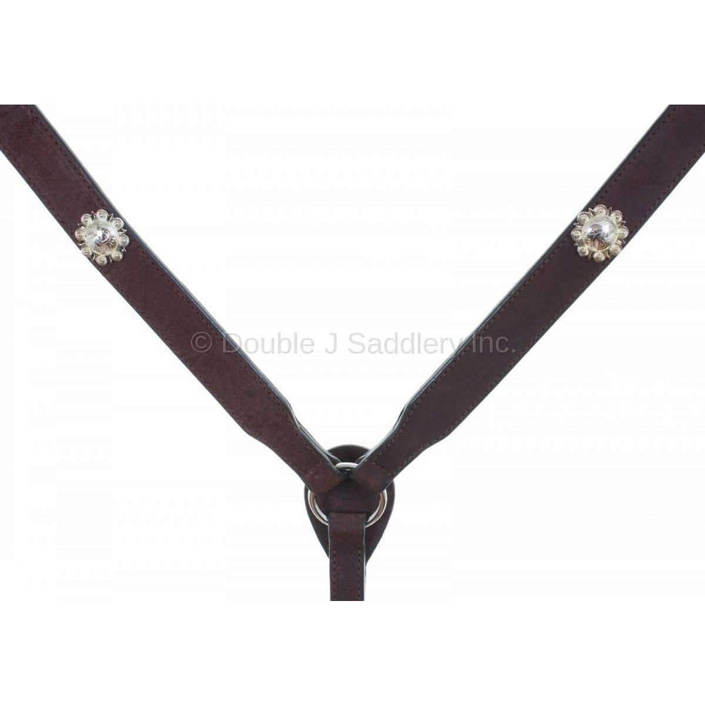 Bc809 - Brown Rough Out Breast Collar Tack