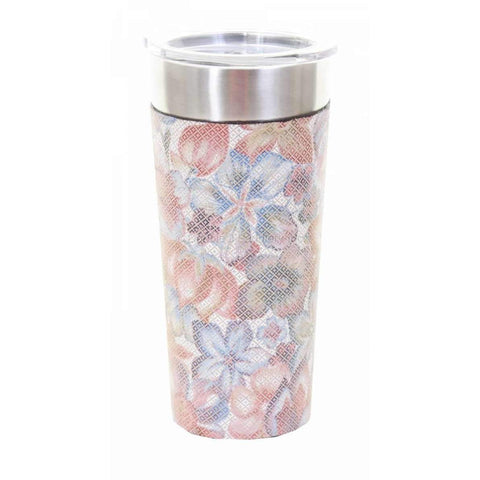 Pastel Floral Leather Wrap With Frio ® Cup