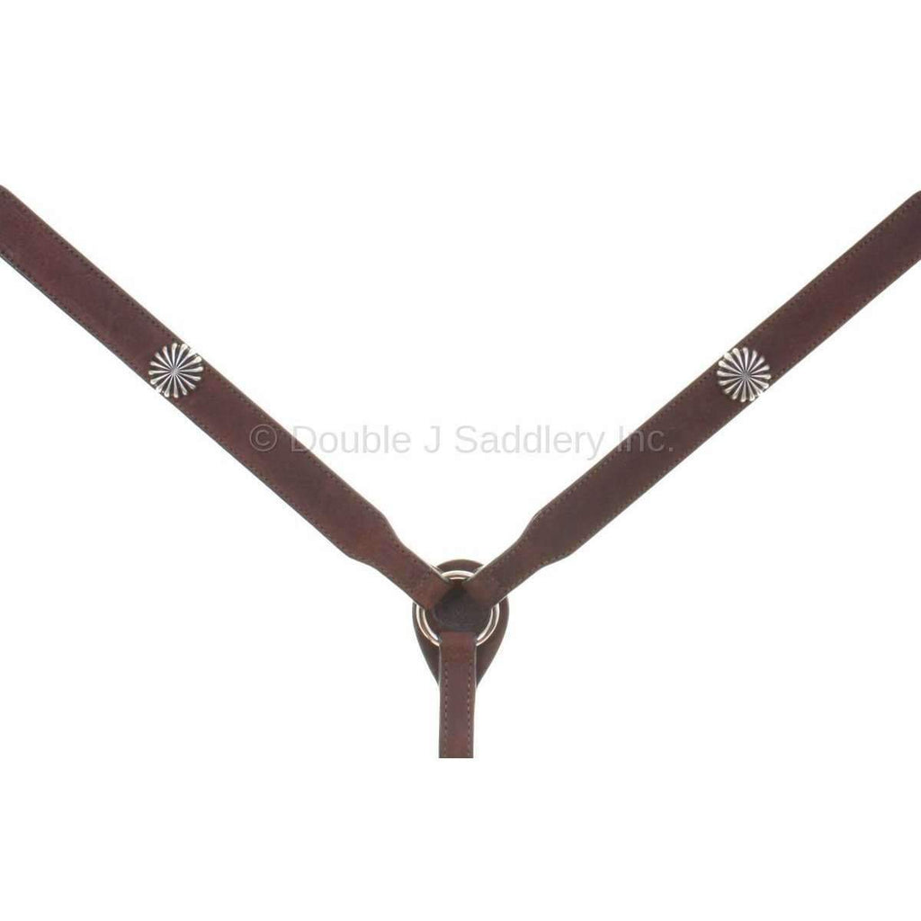 Bc881E - Brown Rough Out Breast Collar Tack