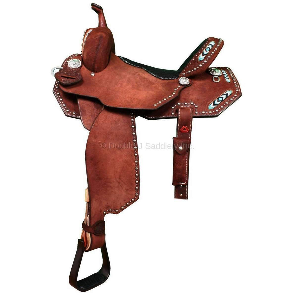 Brown Rough Out Pozzi Pro Saddle. MATCHING TACK H737 AND BC409A AVAILABLE
