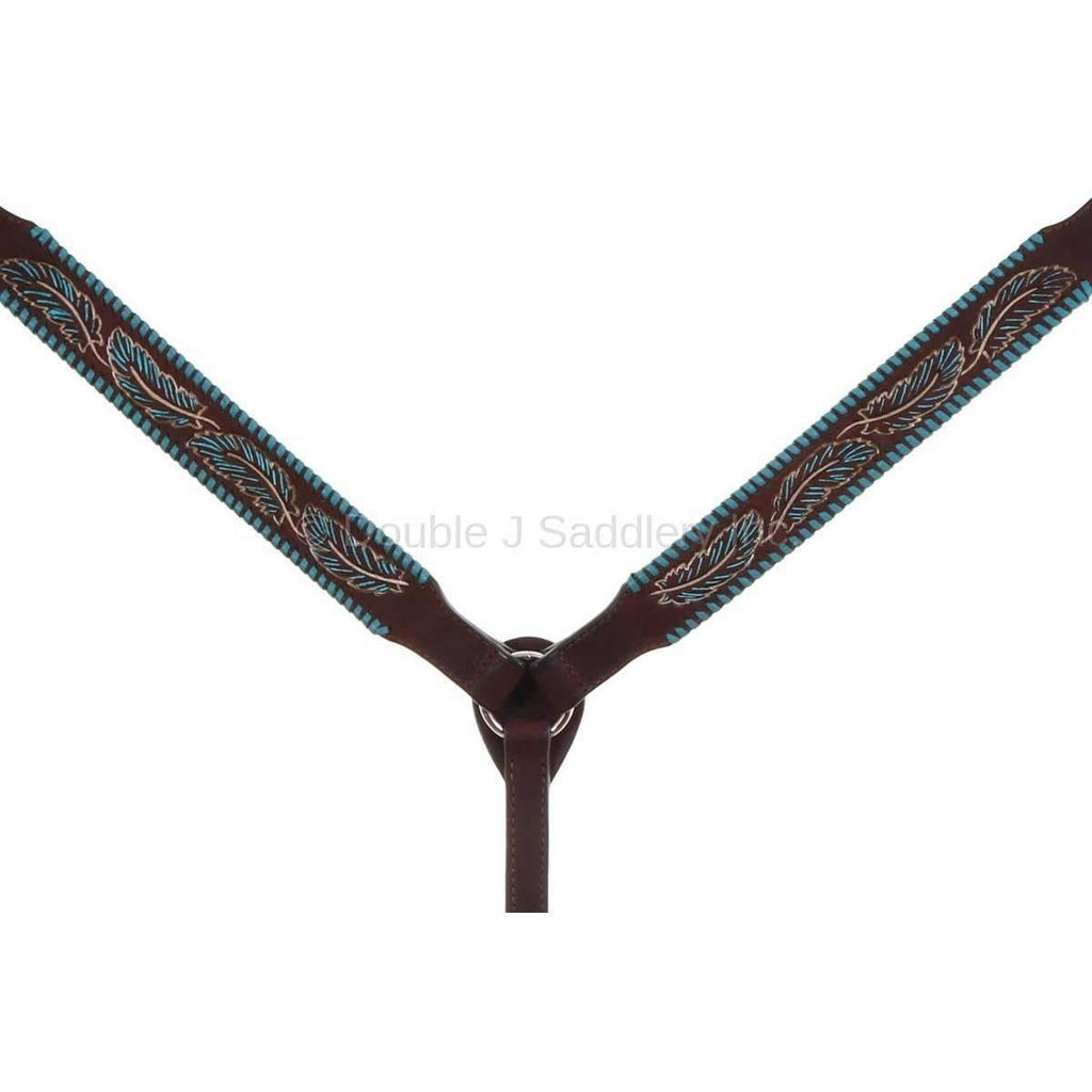 Bc936 - Brown Rough Out Breast Collar Tack